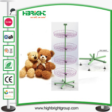 Juguetes de peluche giratorio Spinner Display Rack Stand