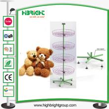 Brinquedos de pelúcia Rotating Spinner Display Rack Stand