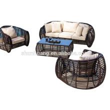 New arrival garden PE rattan sofa outdoor wicker furniture sofa sets