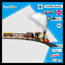 Newest style light/music battery operated railway toy train