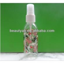 Frasco de perfume plástico garrafa de PET