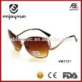 Lunettes de soleil en métal couleur marron en gros Alibaba