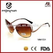 Óculos de sol de cor marrom marrom atacado Alibaba