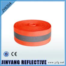 Alta visibilidad cara solo poliester coser cinta impresa
