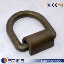 """Черный падение Выкованная сталь углерода 1"""" d кольцо крепления с зажимом"""