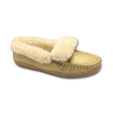 fluffy moccasin slippers for outdoor wear