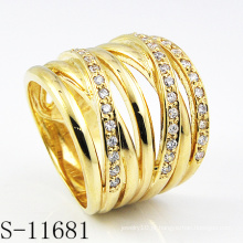 Anel de senhora de jóias de prata banhado a ouro fashion18k (s-11681)