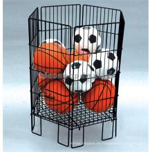 El diseño libre Freestanding los artículos de deportes del supermercado del metal Baloncesto y el estante de visualización del fútbol