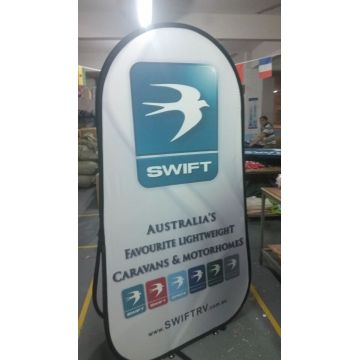 Periklanan Waterproof Vertical Fabric A Frame Banner