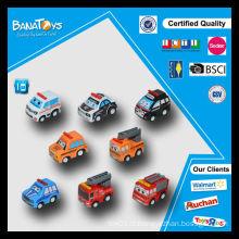 Cartoon puxar carro carros de brinquedo de plástico para crianças para dirigir