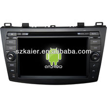 Android System car dvd player for Mazda3 with GPS,Bluetooth,3G,ipod,Games,Dual Zone,Steering Wheel Control