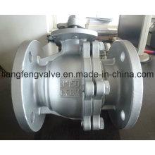 ANSI / ASME, válvula de esfera de 2PC, aço inoxidável