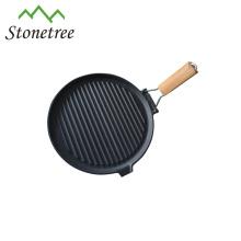 HF104W gril en fonte surface de l'huile végétale / crêtes en fonte casserole pour grillades