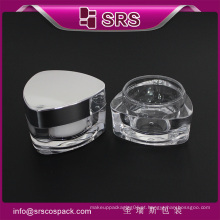 SRS amostra livre vazio 15ml 30ml 50ml acrílico frasco cosmético branco