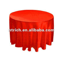 Cetim redonda toalha de mesa de casamento