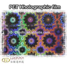 Выбитый лазер голографической пленки для печати логотипа