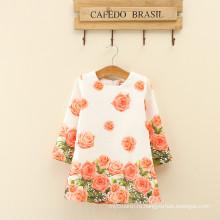 Девушки цветочные длинным рукавом зимний дизайн новые поступления для женщин модные милые одежды младенца девушка одежда алибаба китайский