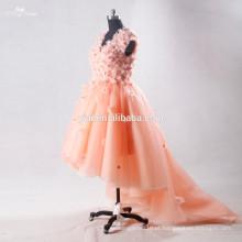 RSE706 Kids Dress Decoration Flores Frente Curto Long Back Back Ultimas Formal Dress Patterns