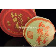 """2008 Xiaguan """"Sonhos da Câmara Vermelha"""" Raw Pu Er Tea, 100g / tuo"""