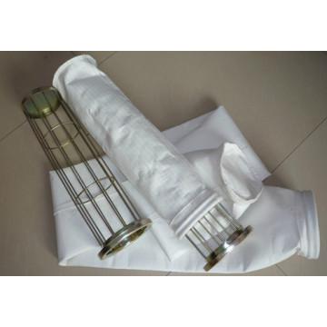 Bolso de filtro no tejido del polvo del poliéster del fieltro de la aguja para el colector de polvo