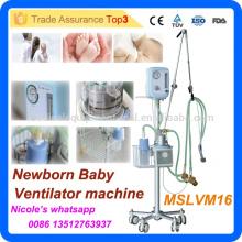 MSLVM16i Neue technische und leicht zu tragen Krankenhaus Trolley Neugeborenen Baby CPAP Ventilator Maschine / Atemmaschine