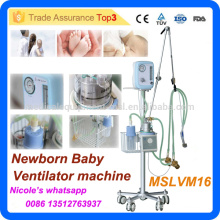MSLVM16i Medical trolley newborn baby ventilator machine with CPAP system