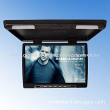 17-inch Cheap Flip Down Monitor with Dual-dome Lights and IR Transmitter, TV, 12V Power Supply