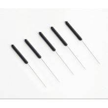 Aiguilles d'acupuncture stériles avec poignées conductrices en plastique
