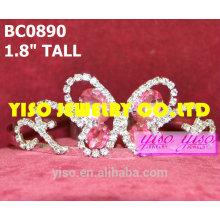 Розовые бабочки короны и тиары