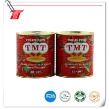 Pasta de tomate enlatada de alta calidad para Turquía