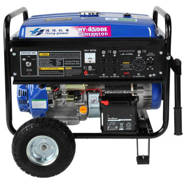 Gerador de gasolina portátil de energia elétrica de 6000 Watts com certificado EPA, Carb, Ce, Soncap (hy8500E)