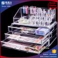 Acrylique Clear Makeup Organizer avec trois tiroirs