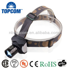 Portable headlamp cree zoom high power rechargeable led headlamp