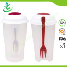 Wholesale Plastic Salad Cup with Fork and Dressing Containers