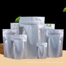 Bolsas ziplock de alimentos con cierre hermético de aluminio puro