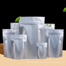 Чистый алюминиевой фольги самоуплотняющаяся еда ziplock мешки