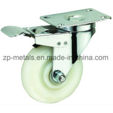 3inch White PP Caster Wheel with Brake