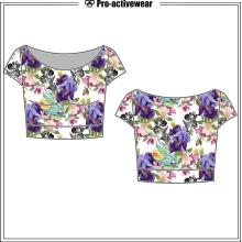New Design macio confortável algodão senhora mulher t-shirt