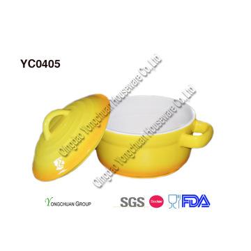 Ceramic Casserole with Lid-2qt