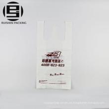 Bolsos de compras plásticos baratos de la camiseta de la categoría alimenticia