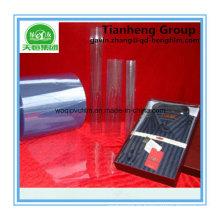 500 micrones de alta película de PVC transparente para inserto de cuello