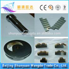 Pièces de machines CNC à carbure de tungstène avancées avec placage et haute qualité