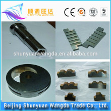 Advanced Tungsten carbide CNC machine parts with plating and high quality