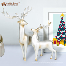 2017 holiday decoration polyresin reindeer sculpture for christmas ornament