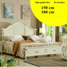 Estilo coreano, muebles del dormitorio, Nueva llegada de cuero cama (L098)