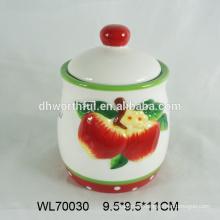 2016 wholesale handpainting ceramic tea bag caddy,ceramic tea container