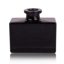 Luxury square matte black Glass Bottle For Aroma Reed Diffuser