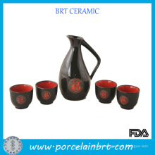 Chinesische Porzellan Sake Geschenkset