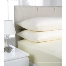Folha equipada do algodão branco da promoção da fábrica com elástico ao redor (WSFI-2016020)