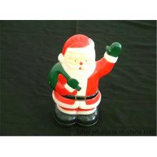 Лучшая цена на ПВХ подарок ребенку оптом винипласт Рождество Санта-Клаус игрушка